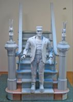 Munsters staircase display 3 by BLACKPLAGUE1348