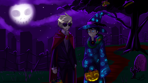 Dave and John say: HAPPY HALLOWEEN! by Timeless-Knight