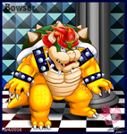 Bowser's flaming glare by Bowser2Queen