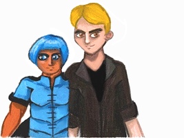 Talia and Unnamed Dude DSi by cellytron