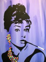 Audrey Hepburn Pop Art by LordColinOneal