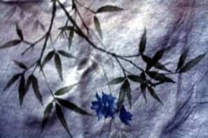 bamboo flower fabric by beckas