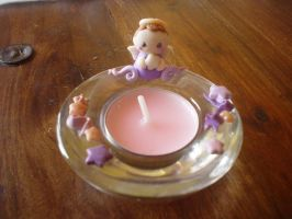 sweet angel tea-light holder by Libellulina