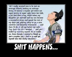 Shikamaru.... Shit Happens...-(Poster) by XPvtCabooseX