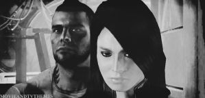 Ash and James Mourn Shepard - Mass Effect 3 by RedVirtuoso