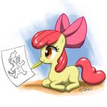 Apple Bloom Draws Spike by johnjoseco