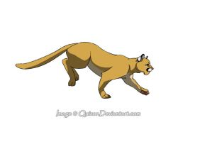 Cougar running cycle by Qaizor