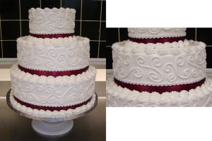 Mother's Lace Wedding Cake by ayarel