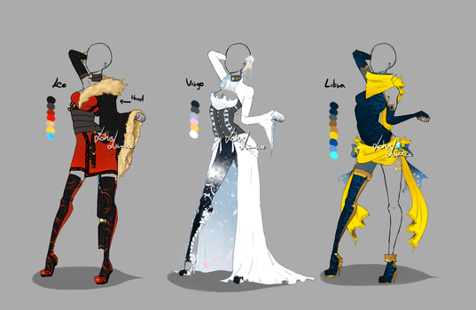 Outfit design - Zodiacs - 3 - closed by LotusLumino