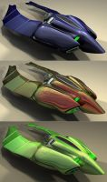 scarab coloured rear view by Buchio