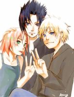 Team 7 - peace signs by arriku
