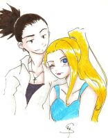 :An Unlikely Pair - ShikaxIno: by Divine-Nataku