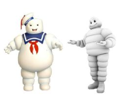 Secret Twins: Marshmallow Man and Michelin Man by Austria-Man