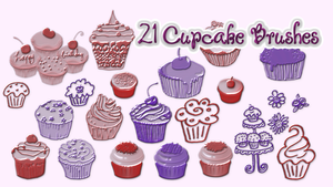 21 Cupcake Brushes by AleidraHawk