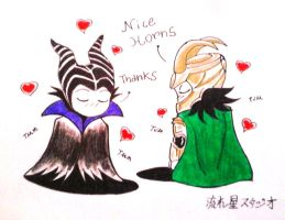 Loki x Maleficent by Nagareboshi71