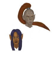 Azuka Bladefury and Draka - practice by riotfury