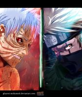 Naruto 686 - Obito and Kakashi by Ghazwi-Mohamed