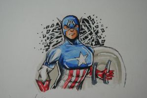 Captain America by Draw4fun2