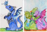 Dragon ACEOs week 9 set 1 by The-GoblinQueen