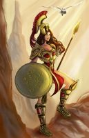 Athena: The Bringer of Wisdom by ArtCrawl