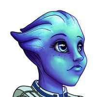 Liara WIP by C-Puff
