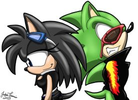 .:REQUEST:. Blackfire and Scourge by SonicFF