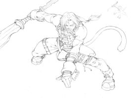 Zidane Tribal sketch by Sakuseii
