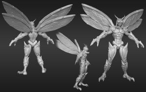 Insectoid Zbrush Sculpt by ebagg