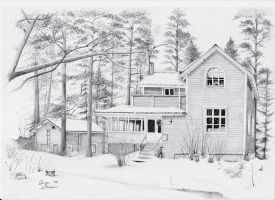 Finnish Lakeside Home by Didymus03