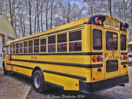 School Bus Pit Stop by jim88bro