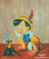 Pinocchio in Disney style by Beralismo