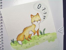 cute fox by Mirrelley