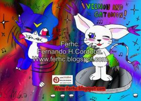 Veemon and Gatomon new by ferhc