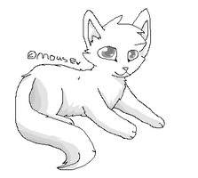 MSpaint cat lineart preshaded by Mousefur3