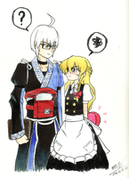 Marisa and Rinnosuke by crazytreasurestudio