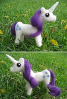 Needle Felted Rarity Pony Doll by P-isfor-Plushes