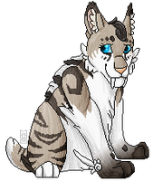 .: Pixel Saber-toothed cat :. by rooklinqs