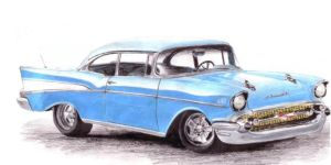 57 Chevy Bel-Air Hard Top by LindseyTaylor