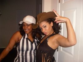 Halloween 2012, Referee and Cowgirl! by AceOfStCanardKLy