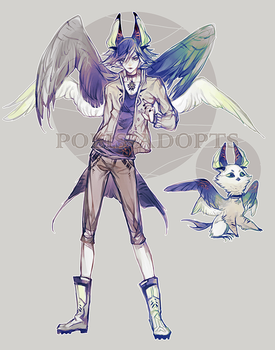 [CLOSED] adopts auction - Lover Boy Owl by Polis-adopts