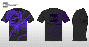 T-shirt Design - Purple by Witneus