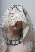 Lace headdress 3 by Sinned-angel-stock