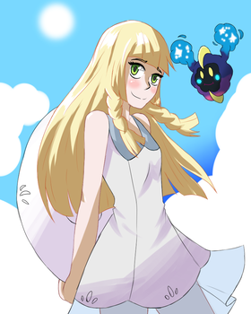 Lillie and Nebby by Sorairo-Wolf
