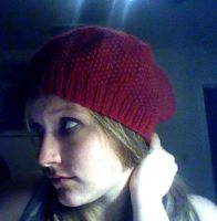 Red Slouchy Beanie by eckabeck