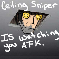 Ceiling Sniper by lexa10