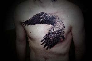 crow by yugtattoo
