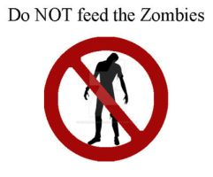 Do NOT feed the Zombies White by ConradbCarlson