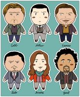 Inception chibi ornaments by Paperflower86