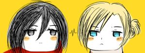 Mikasa and Annie by Tany-Lu