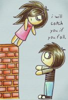 i will catch you if you fall. by im-not-sana